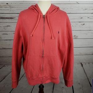Polo zip up sweatshirt XL